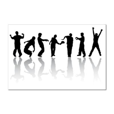 Наклейка (стикер)   танцы