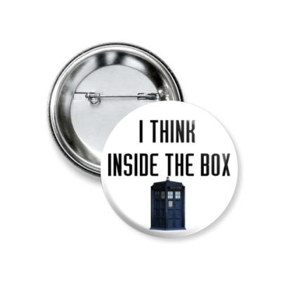 Значок 37мм Inside the box