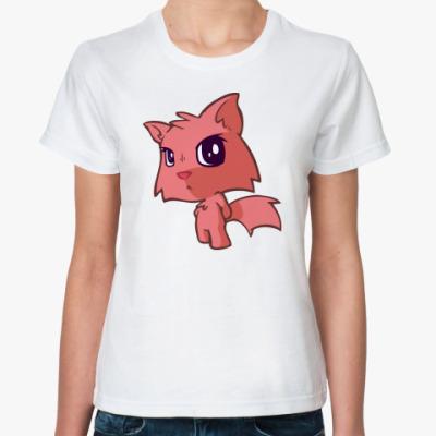 Классическая футболка 'Кот обижака'