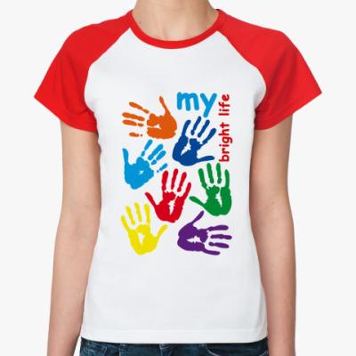 Женская футболка реглан Руки