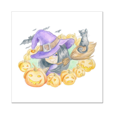 Наклейка (стикер) Ведьмочка