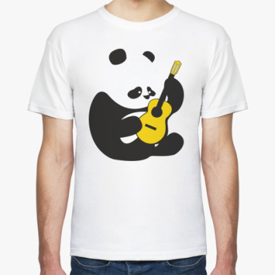 Футболка Панда играет на гитаре