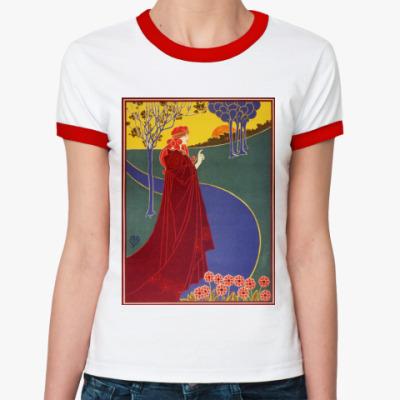 Женская футболка Ringer-T арт деко