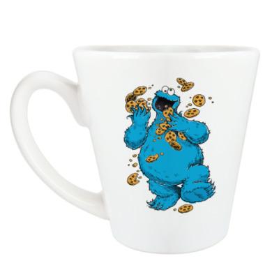 Чашка Латте Cookie Monster