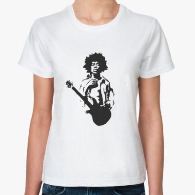 Классическая футболка Hendrix  w/guitar Жен