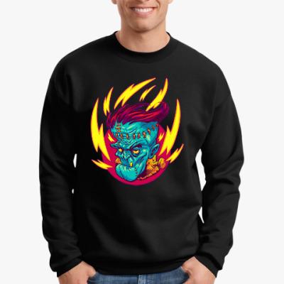 Свитшот Франкенштейн в огне