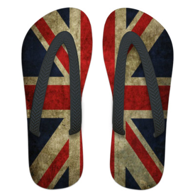 Шлепанцы (сланцы) флаг Великобритания