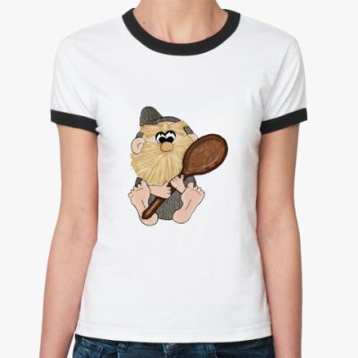Женская футболка Ringer-T   Домовой