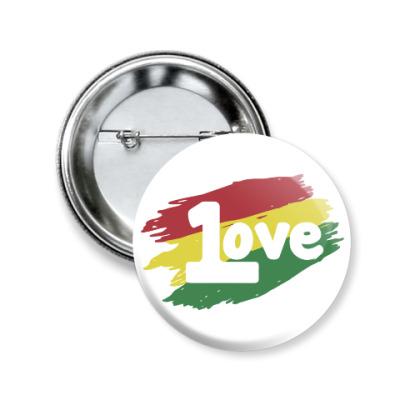 Значок 50мм 1 Love