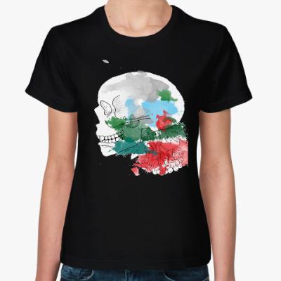 Женская футболка Ноябрьский череп