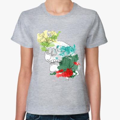 Женская футболка Декабрьский череп