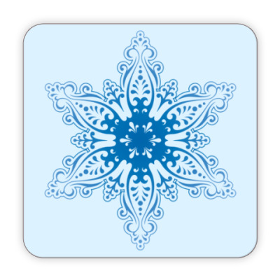 Костер (подставка под кружку)  Снежинка