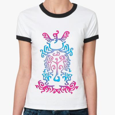 Женская футболка Ringer-T Etno ornament