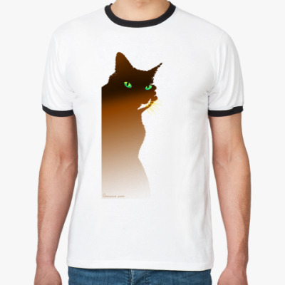 Футболка Ringer-T Рыжий кот