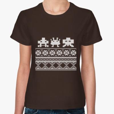 Женская футболка Alien invader