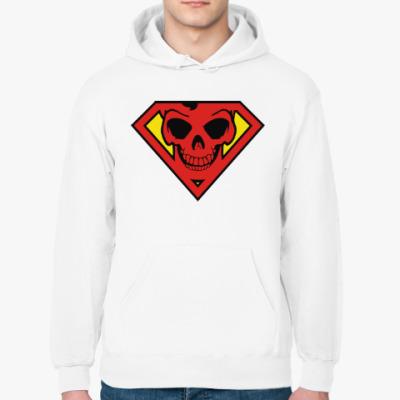 Толстовка худи Skull Superman