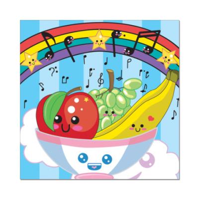Наклейка (стикер) Kawaii Fruit