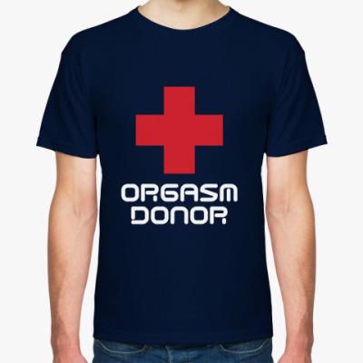 Футболка Orgasm donor