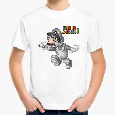 Детская футболка Марио - жизнь игра