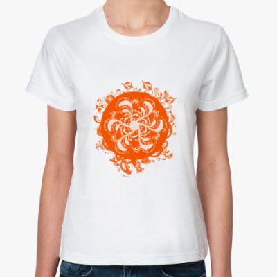 Классическая футболка  Flower