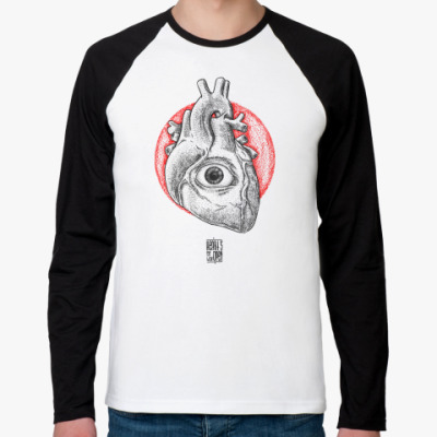 Футболка реглан с длинным рукавом  heart's eye