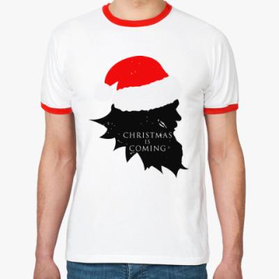 Футболка Ringer-T Christmas is coming