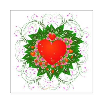 Наклейка (стикер) Heart Flower