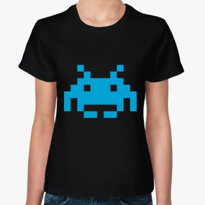 Женская футболка   Invader