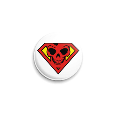 Значок 25мм Skull Superman