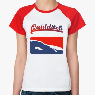 Женская футболка реглан Quidditch  Ж (б/к)
