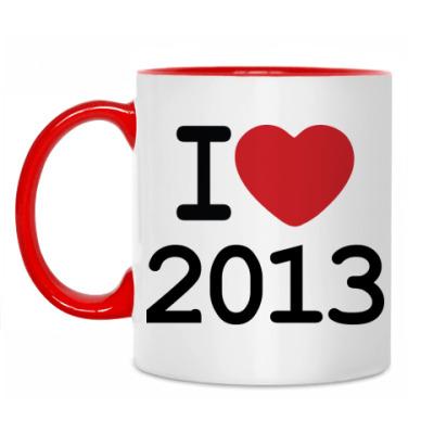 Кружка Новогодний принт I Love 2013