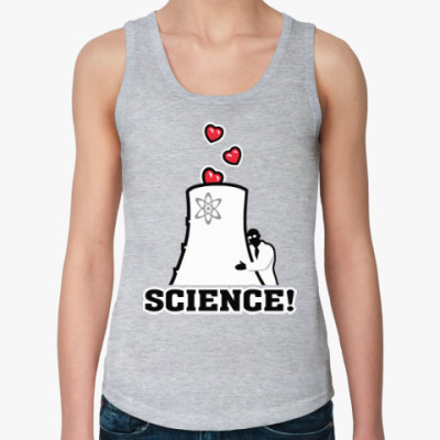 Женская майка Science! Ядерная физика