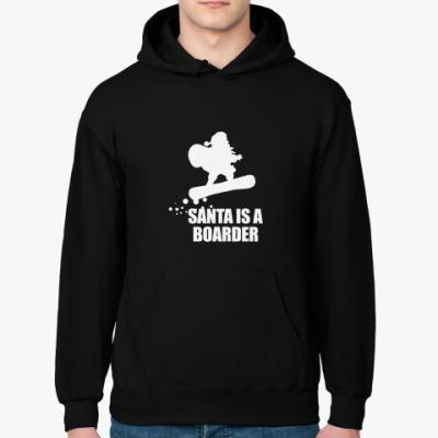 Толстовка худи Santa is a boarder!