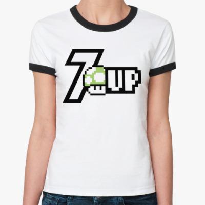Женская футболка Ringer-T Super Mario Mushroom