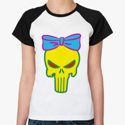 Женская футболка реглан Карательница