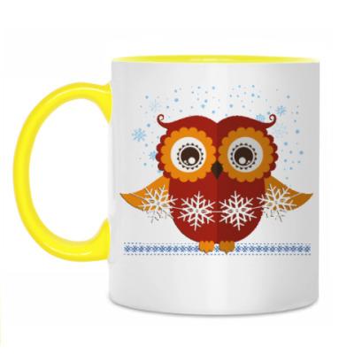 Кружка Зимняя сова