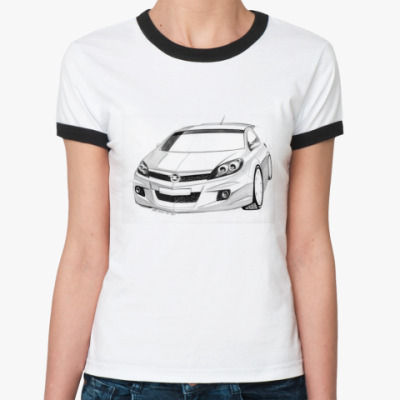 Женская футболка Ringer-T Автомобиль Opel
