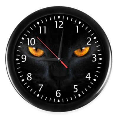 Настенные часы Черный ягуар