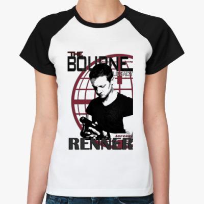 Женская футболка реглан Эволюция Борна