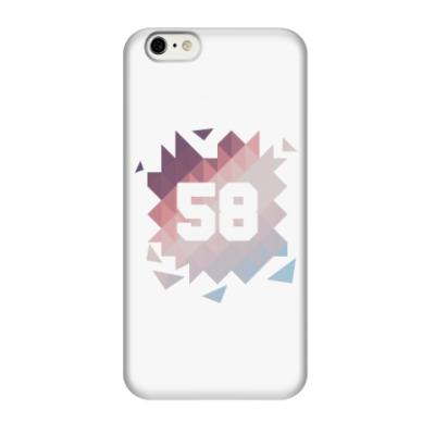 Чехол для iPhone 6/6s Цифра 58 (Low Poly)
