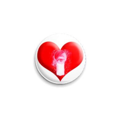 Значок 25мм Сердце с глазом
