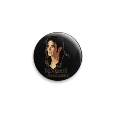 Значок 25мм MJ portrait