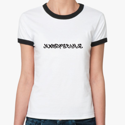 Женская футболка Ringer-T Джампстайл Лого