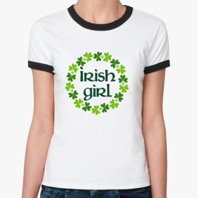 Женская футболка Ringer-T Irish girl