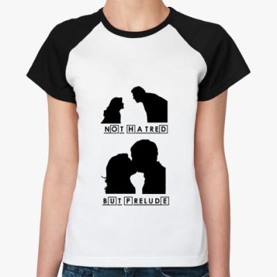 Женская футболка реглан Huddy's Prelude