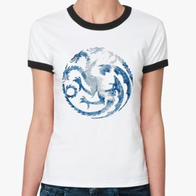 Женская футболка Ringer-T Khaleesi and Dragons