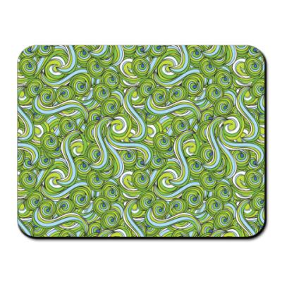 Коврик для мыши Зеленый волны