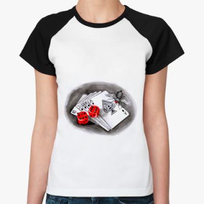 Женская футболка реглан Покер
