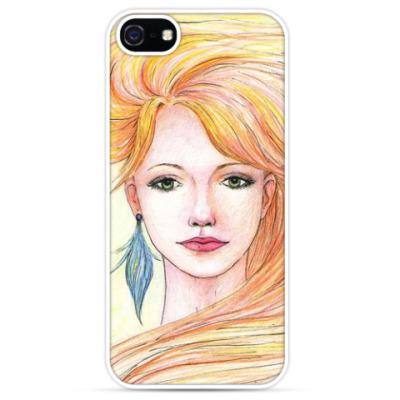 Чехол для iPhone Red-haired Girl