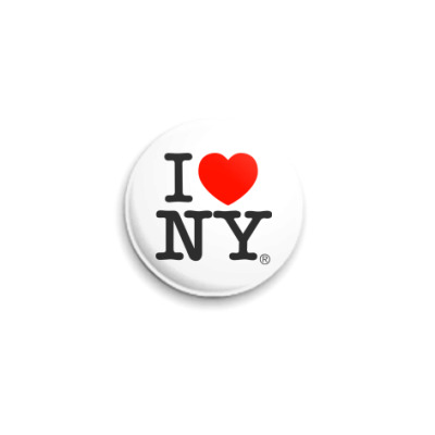 Значок 25мм I love NY